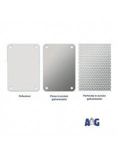 Piastra perforata in acciaio galvanizzato per cassette 300x250x160