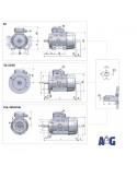 Motore asincrono trifase 0,13 Kw - 2 poli