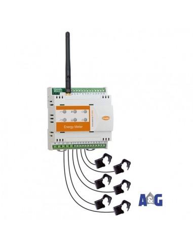 Energy meter radio ZigBee con di 6 TA da 50A / 100A