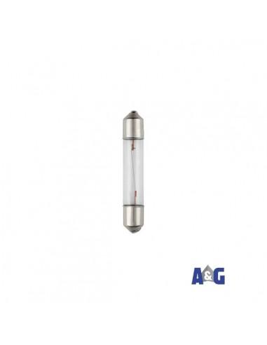 LAMPADA A SILURO - S6X36 - 12V ac/dc - 2W - INCANDESCENTE - BIANCO