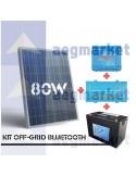 KIT OFF-GRID 12V 80Wp 100Ah(C10) 250VA BLUETOOTH