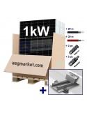 KIT FOTOVOLTAICO lamiera grecata da 1 kWp