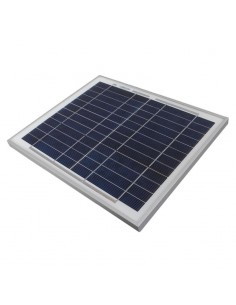 Modulo Fotovoltaico Poli da 10W 18,77V 0,56A dim. 300 x 350 x 22 mm
