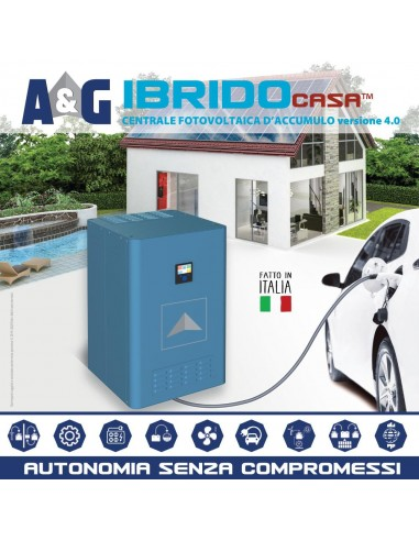 Kit IBRIDOcasa ED 15kWh(C5) inverter 3kVA@25°C single phase 1 MPPT 3000Wp