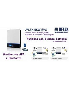 UFLEX ICPV 5kW EVO -Inverter Fotovoltaico Ibrido - per batt 48V al Pb o al Litio