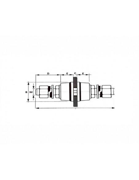 Disegno Isolatore Distanziale M8